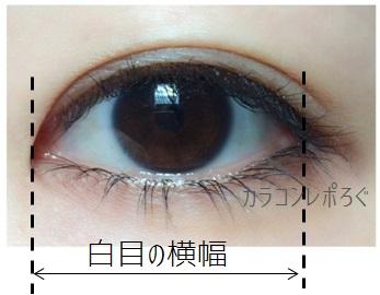 瞳の黄金比率測定!目の横幅の測り方