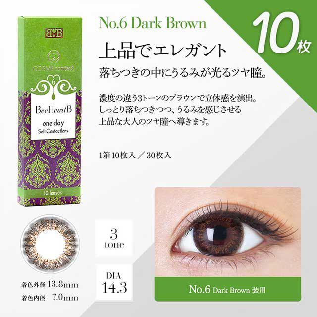 No.6ダークブラウン(ビーハートビーワンデー)口コミ/感想/評判