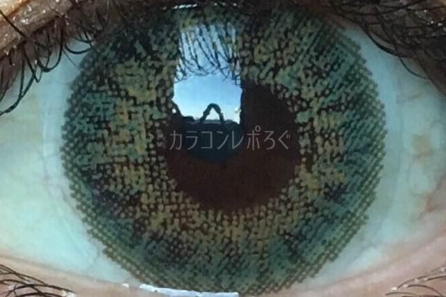 エクシクリアカラーグリーン(i-lens/アイレンズ)着画アップ