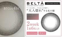 ベルタ/BELTAブラック(2week/2週間交換)装着画像レポ