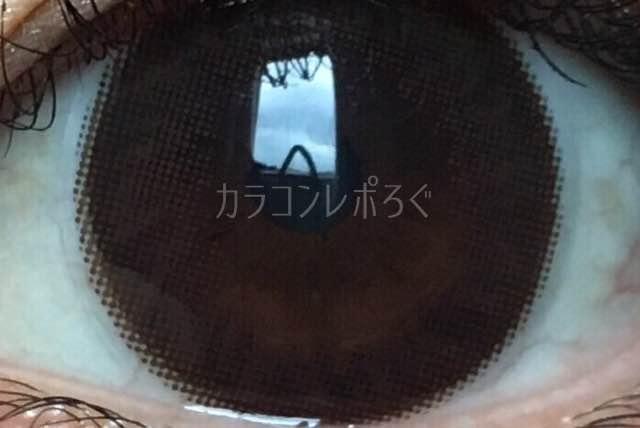 アイブリンチョコシリコン(POPLENS/i-lens)着画アップ