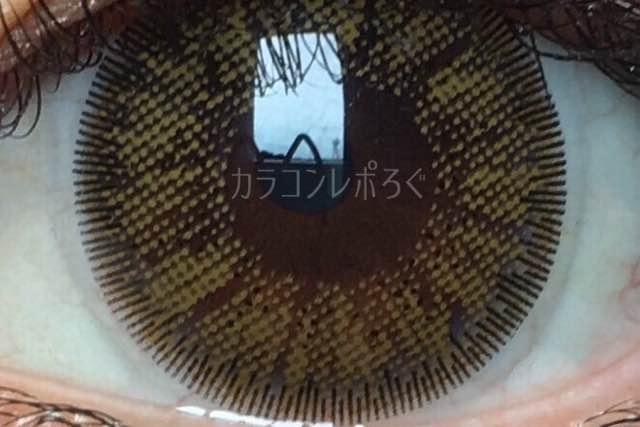 ボニータ(i-lens)ビティーツーカラーブラウン(POPLENS)着画アップ