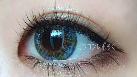 スーパーワールドブルーi-lens/アイレンズ装着画像レポ・別角度