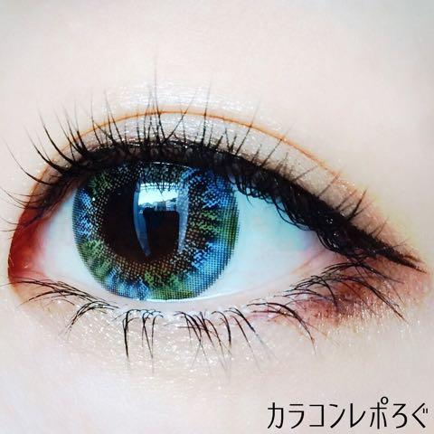 スーパーワールドブルーi-lens/アイレンズ装着画像レポ・太陽光加工あり