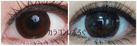ベスタシルビアチョコi-lens/アイレンズ装着画像レポ・公式と実物比較