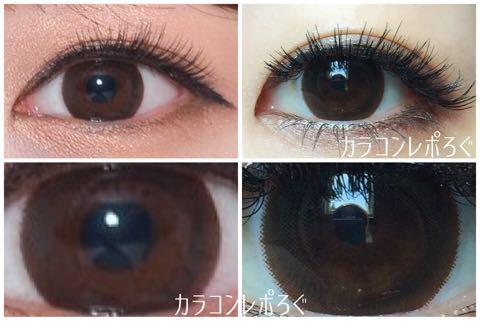 ツイスター2チョコ(i-lens)スピンチョコ(POPLENS)公式と実際の着画違い比較