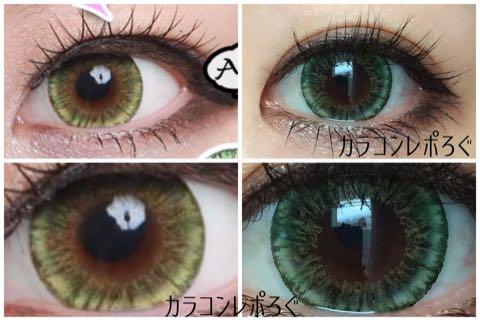 エンジェルビビアン16mmグリーンi-lens/アイレンズ装着画像レポ・公式と実物比較