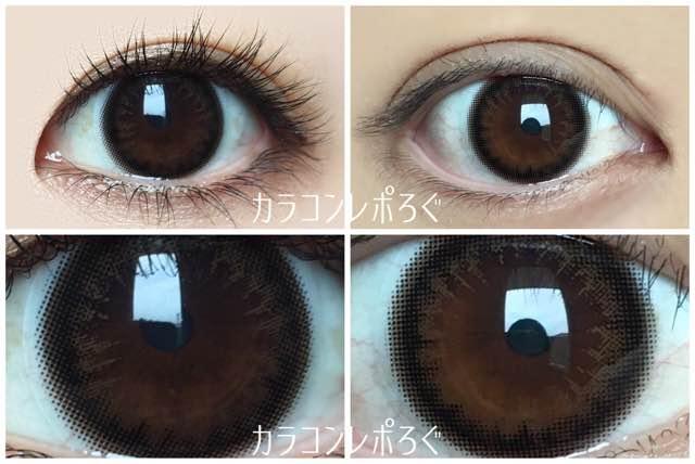 ガウスショコラ黒目と茶目発色の違い比較/アイクローゼットマンスリー