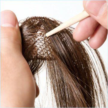 ふんわり総手植え前髪ウィッグ/ななめバング・制作過程イメージ