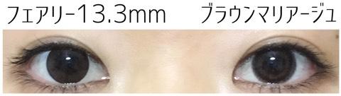ブラウンマリアージュ(エバーカラーワンデーナチュラルモイストレーベルUV)大きさ/サイズ/着色直径検証
