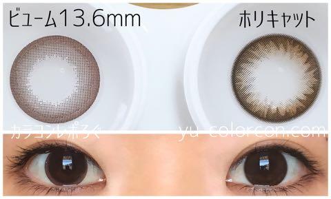 ホリキャットチョコ(i-lens/POPLENS)大きさ/サイズ/着色直径検証