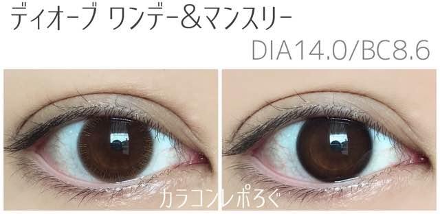 ディオーブワンデー&マンスリー/eye to eye D orb茶目装着画像まとめ