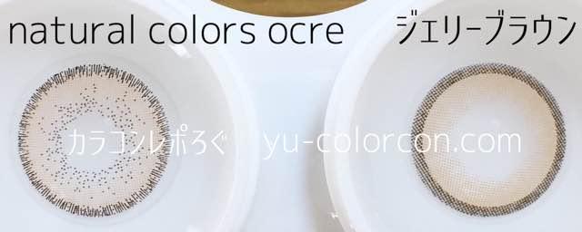 Solotica Natural Colors Ocre&#イットアイズジェリーブラウンレンズ違い比較