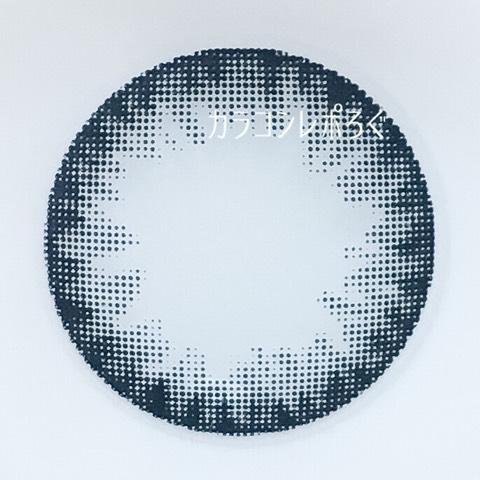 #01サークルネイビー(パーツホワイトワンデー)レンズ画像
