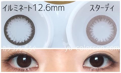 スターディチョコ(i-lens/アイレンズ)大きさ/サイズ/着色直径検証