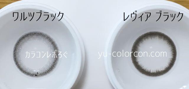 アレグロ2ウィークワルツブラック&レヴィアワンマンスブラック レンズの違い比較