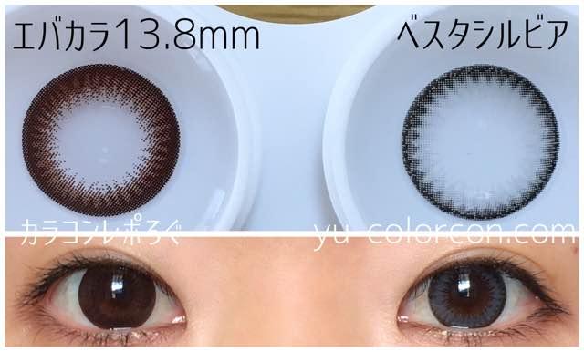 ベスタシルビアグレー16mmアイレンズ/i-lens大きさ/サイズ/着色直径検証