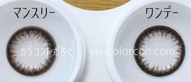 ガウスショコラマンスリー&ワンデーレンズの違い/アイクローゼット