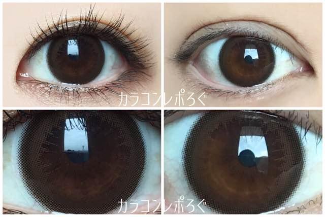 シルエットキャメル/アイクローゼットマンスリー黒目・茶目発色の違い