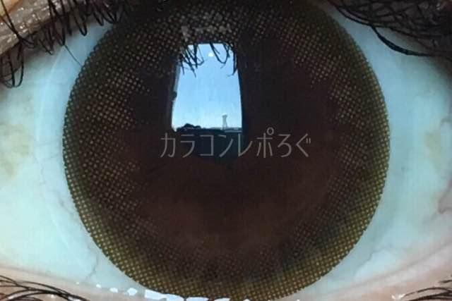 ミルキーブラウン/アイニックシリコンワンデー/i-lens着画アップ