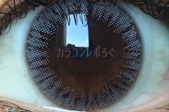 オリビアナチュラル(i-lens)モチーフグレー(POPLENS)着画アップ