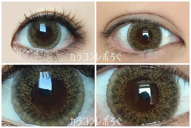 ジーニーガールズ スフレブラウン/黒目と茶目発色の違い比較