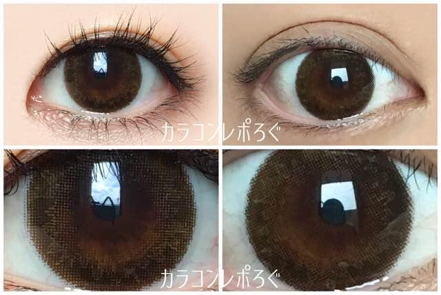 セピア黒目と茶目発色の違い比較/シークレットキャンディーマジックプレミア