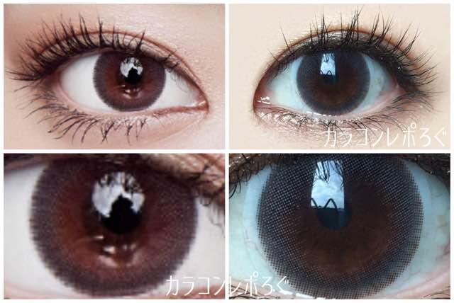 アイドルピュアシリコングレー(i-lens/アイレンズ)公式と実際の着画違い比較