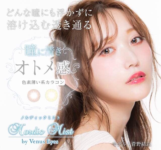 ヴィーナスアイズノルディックミスト(菅野結以ワンデー)口コミ/感想/評判