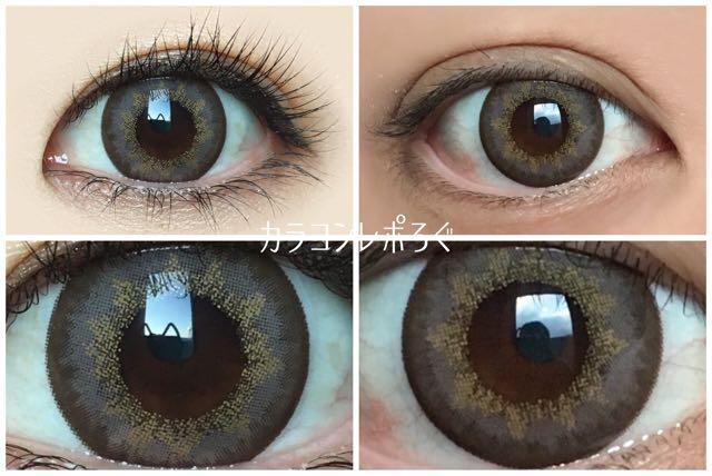 カラーズ/colors(近藤千尋マンスリーカラコン)黒目と茶目発色の違い比較
