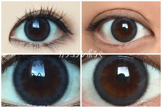 ウィンターソフト黒目と茶目発色の違い比較/パーソナルバイヴィーナスアイズ