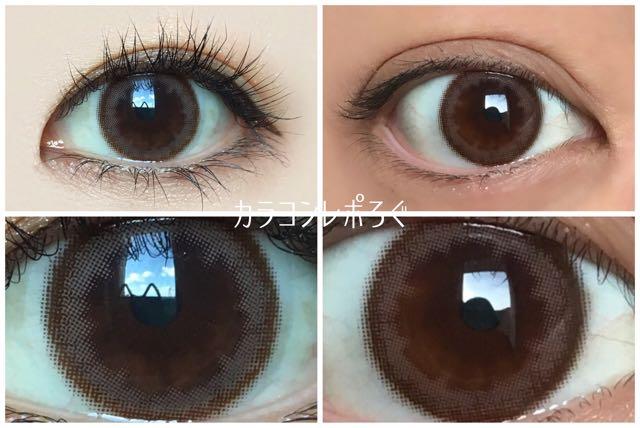 スプリングソフト黒目と茶目発色の違い比較/パーソナルバイヴィーナスアイズ