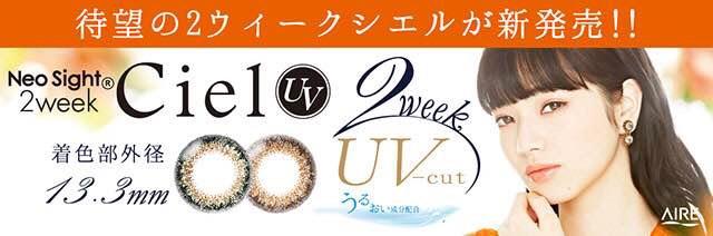 ネオサイト2ウィーク シエルUV(Neo Sight 2week Ciel UV)着レポ/レビュー