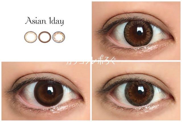 アイトゥーアイアジアンワンデー/eye to eye Asian 1day 茶目着画まとめ