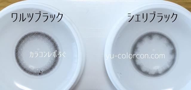 アレグロワルツブラック&ヒールミーシェリブラック レンズの違い比較