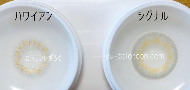 ミックスアンハワイアン&シグナルグレー レンズの違い比較