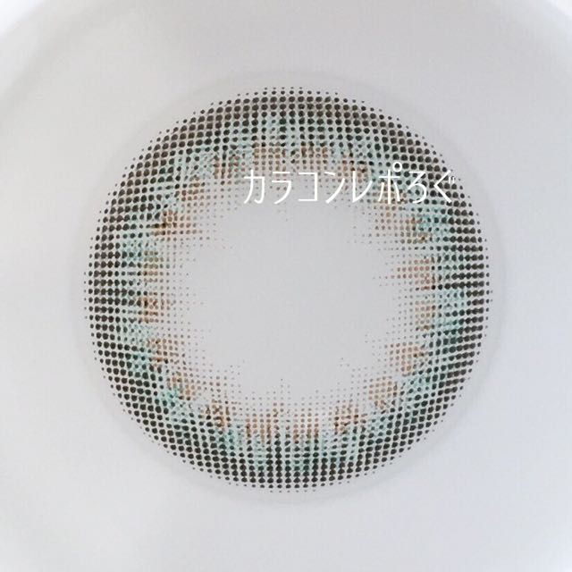 ナデシコグリーン(ナデシコカラー55% UV&Moist)レンズ画像