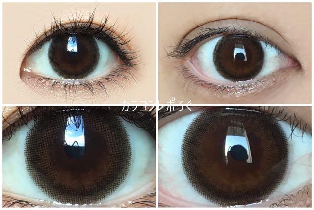 レヴィアワンマンス シアーセーブル 黒目と茶目発色の違い比較