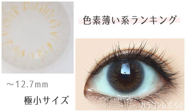 色素薄い系 極小サイズのおすすめカラコンランキング