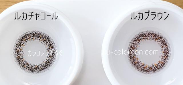 ルカチャコール&ルカブラウン レンズの違い比較(シエルデュウ)